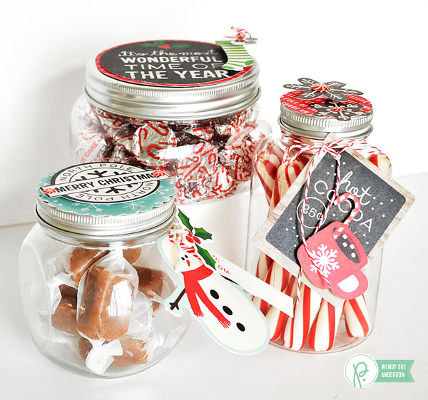 simple gifts with tags by @wendysuea using the #HomeForChristmas collection by @PebblesInc.