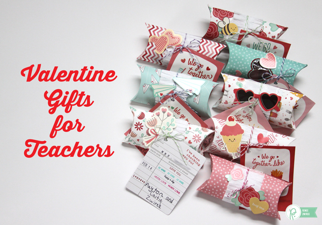 Valentine Gifts for Teachers by @Renee Zwirek using the #WeGoTogether collections by @PebblesInc. and #wermemorykeepers