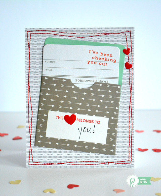 Stitched Valentine's Day Cards by @popperandmimi using @pebblesinc We Go Together collection
