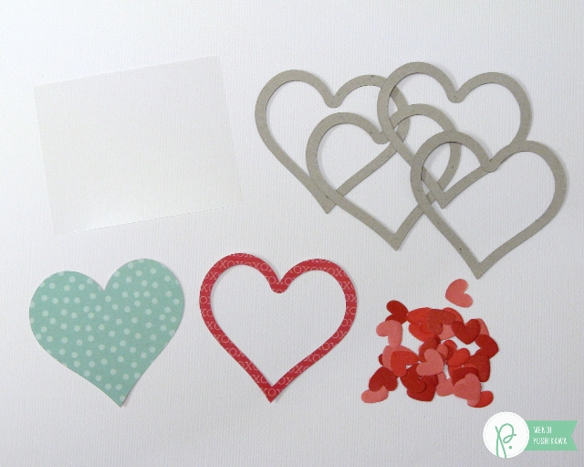 Valentine's Day Heart Shaker by Mendi Yoshikawa using the #WeGoTogether collection from @PebblesInc. @SnippetsByMendi