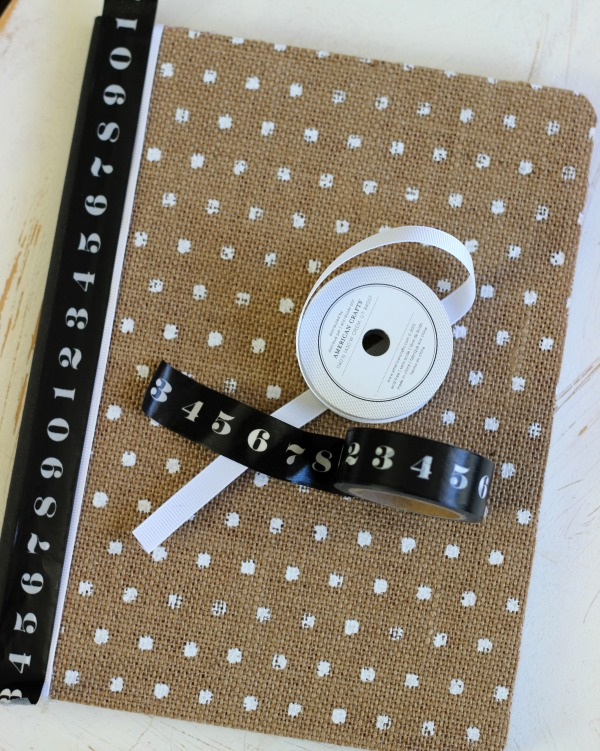 How to make a DIY Altered Notebook using the @pebblesinc Home + Made collection by @ribbonsandglue