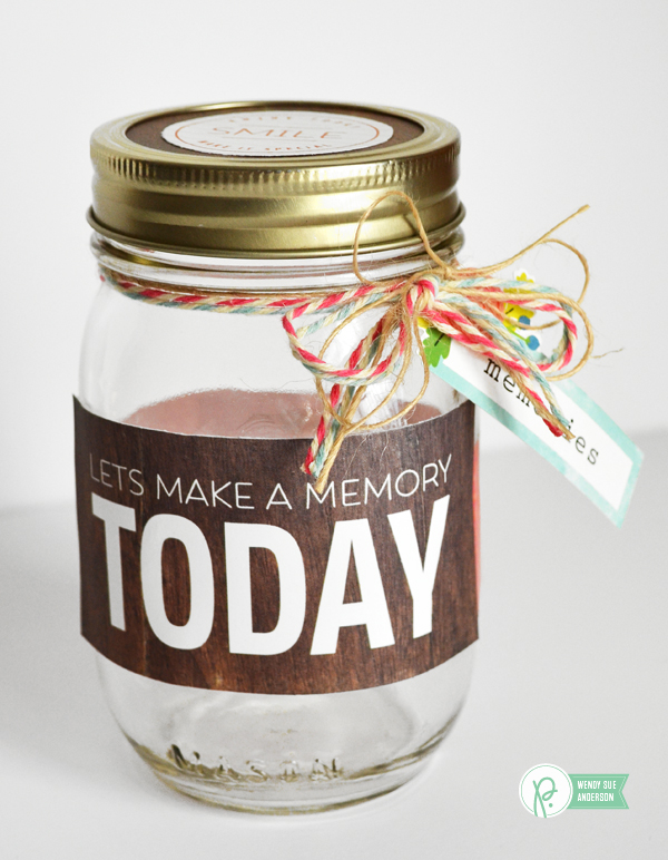 memory jar project by @wendysuea featuring the #happyday collection for @pebblesinc