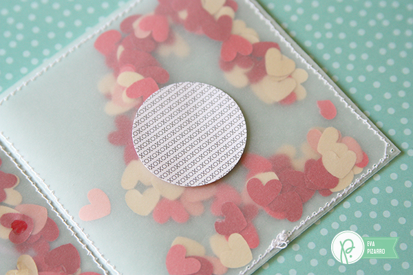 Valentine's shaker cards by @evapizarrov using the We Go Together line by @pebblesinc