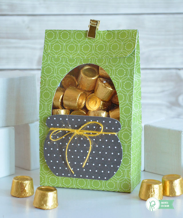 St. Patrick's Day Treat Bag by @popperandmimi using @pebblesinc patterned papers