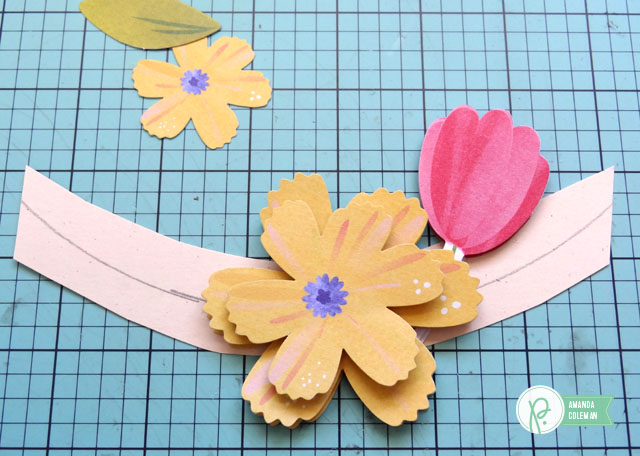 Spring Flower Hoop Wreath by @popperandmimi using @pebblesinc Home Grown collection