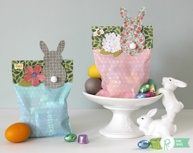 Hoppy Easter Treat Bags by @Renee Zwirek using the #HomeGrown, #HappyDay, #SpecialDelivery, and #JHCottageLiving collections by @PebblesInc. and @Tatertots and Jello .com