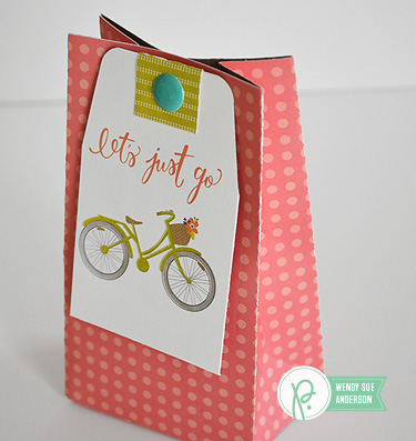 "tag and bag set by @wendysuea featuring the ""happy day"" collection by @pebblesinc"
