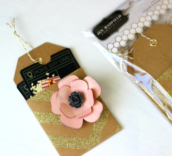 Mini Kraft Tag from the @pebblesinc Home + Made  collection by @ribbonsandglue