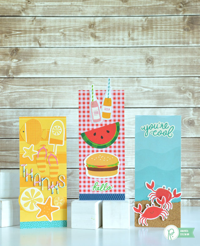 Tall Summer Cards by @amanda_coleman1 using @pebblesinc  Fun in the Sun collection