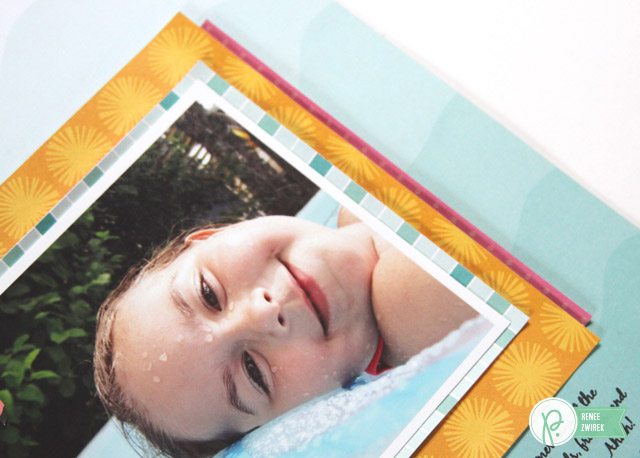Chill Out summer layout by @reneezwirek using the #FunintheSun collection by @pebblesinc