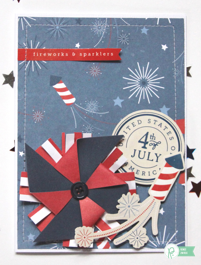 Fourth of July cards by @reneezwirek using the #Americana collection by @PebblesInc.