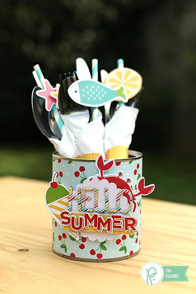 Cutlery Holder made by @evapizarrov with the #FunInTheSun collection by @pebblesinc