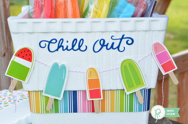 Popsicle Cooler by @amanda_coleman1 using @pebblesinc Fun in the Sun collection