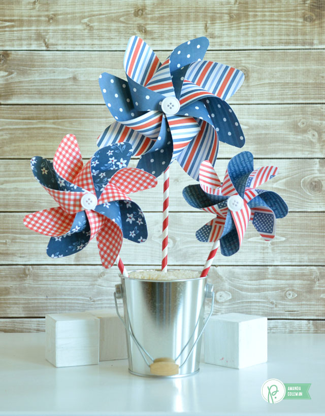 Red, White and Blue Pinwheels by @amanda_coleman1 using @pebblesinc Americana collection