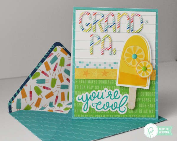 """Father's Day Cards and Envelopes featuring the """"Fun in the Sun"""" collection by @wendysuea for @pebblesinc"""