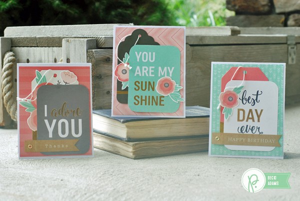 Easy Card set created for @Pebblesinc by @jbckadams (Becki Adams) using products inspired by @tatertotsandjello
