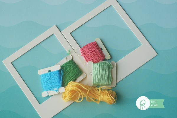 How to create Wrapped Polaroid Frames by @jbckadams (Becki Adams) for @Pebblesinc