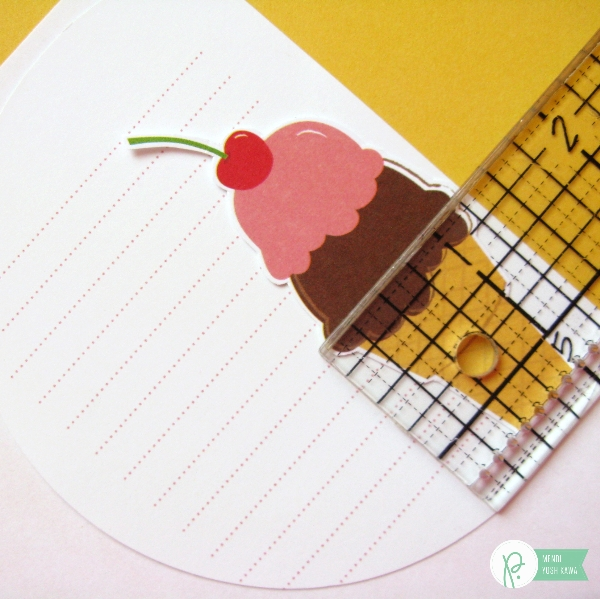 How to print journaling on 3x4 Lined Cards by Mendi Yoshikawa using the #FunInTheSun collection from @PebblesInc. @SnippetsByMendi