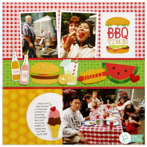 Summer BBQ Layout by Mendi Yoshikawa using the #FunInTheSun collection from @PebblesInc. @SnippetsByMendi