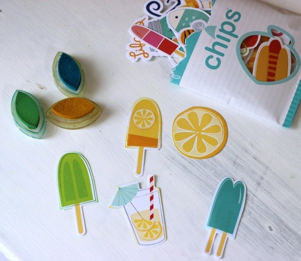 Fun in the Sun cardstock shapes  from @pebblesinc