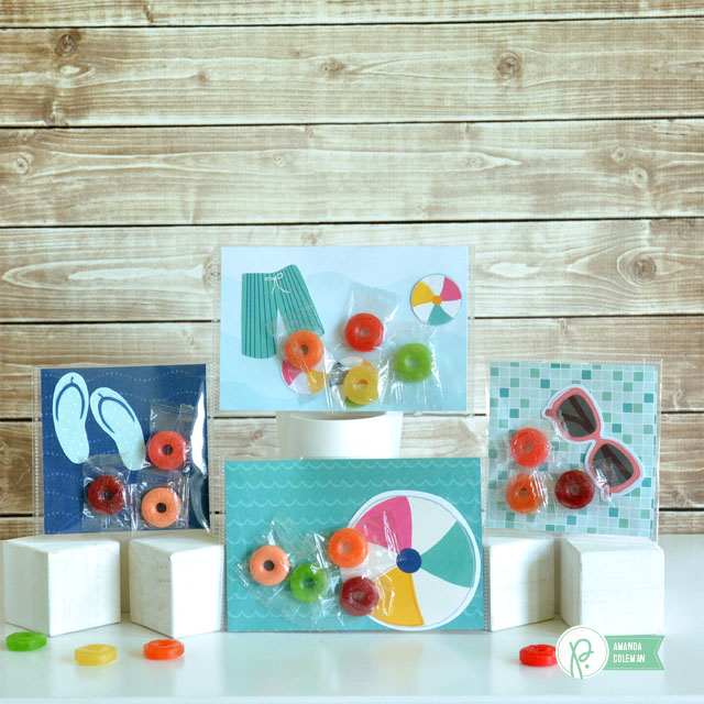 Pool Party Candy Packets by @amanda_coleman1 using @pebblesinc Fun In the Sun collection