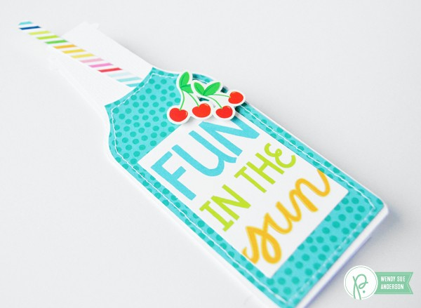 "shaped summer card trio by @wendysuea with the ""Fun in the Sun"" collection by @pebblesinc"