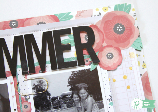 #summer layout by @reneezwirek using the #JHCottageLiving and #JHHomeMade collections by @PebblesInc. and @Tatertots and Jello .com