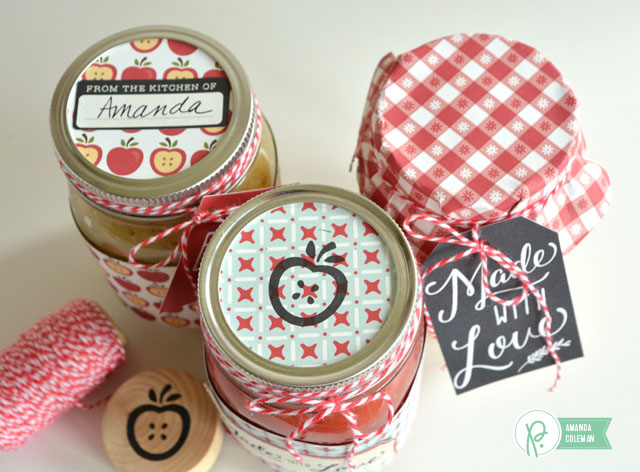 Applesauce Gift Jars by @amanda_coleman1 using Harvest by @pebblesinc