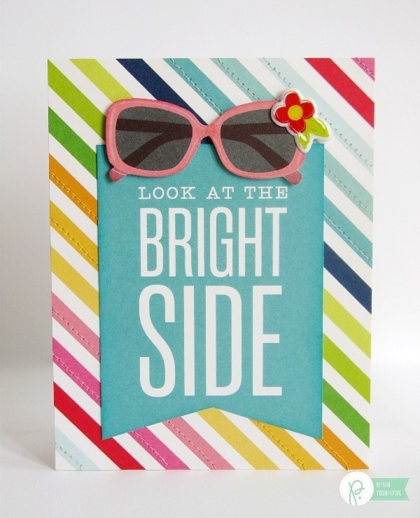 Encouragement Card by Mendi Yoshikawa using the #FunInTheSun collection from @PebblesInc. @SnippetsByMendi