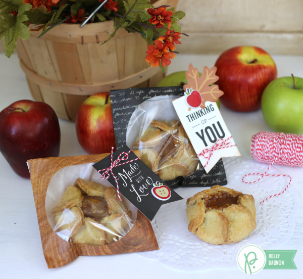 Apple Treat Cookie Bags made with the @pebblesinc Harvest collection created by @ribbonsandglue