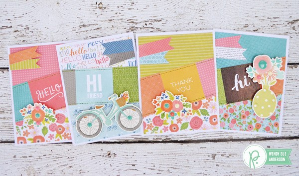 """Happy Day"" card set by @wendysueanderson for @Pebblesinc"
