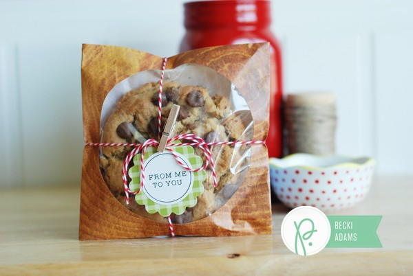 Easy Neighbor Gift by @jbckadams (Becki Adams) for @pebblesinc using the Harvest collection
