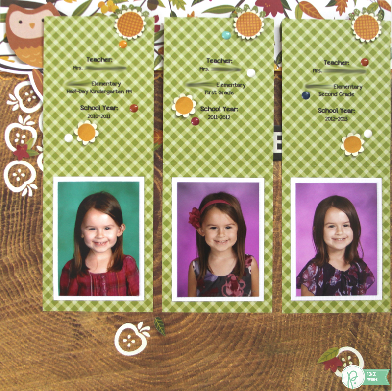 Elementary School Double-Page Layout by @reneezwirek using the #Harvest collection by @Pebbles Inc.