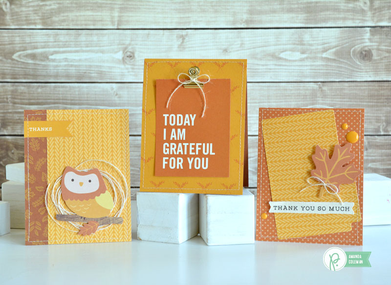 Pumpkin Spice Cards by @amanda_coleman1 using the Harvest collection by @pebblesinc