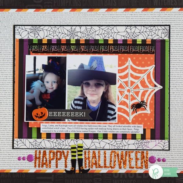Halloween Layout by @jbckadams for @pebblesinc