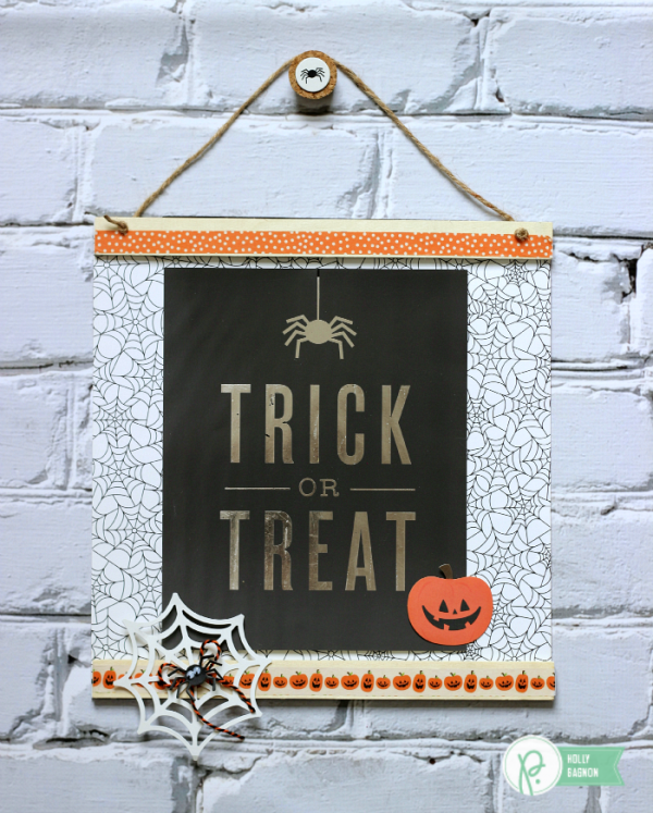 Halloween Wall Gallery Print from @pebblesinc and Heidi Swapp's Minc designed by @ribbonsandglue