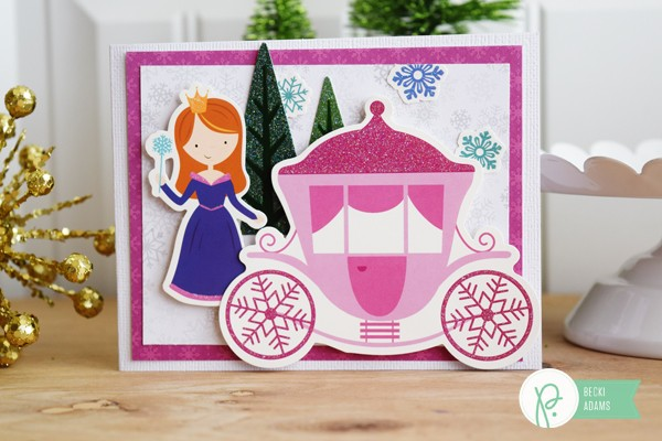 Winter cards for Little girls by @jbckadams (Becki Adams) for @pebblesinc