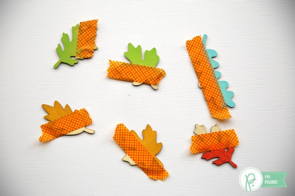 Mini Fall cards using #woodveneers from the #Harvest collection by @pebblesinc