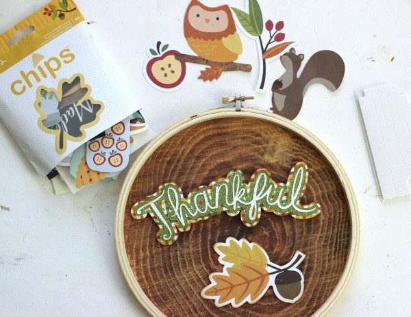 Card Stock shapes from @pebblesinc Harvest collection