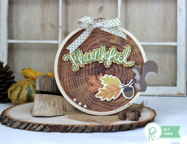 Thankful Home Decor embellished with @pebblesinc Harvest collection created by @ribbonsandglue
