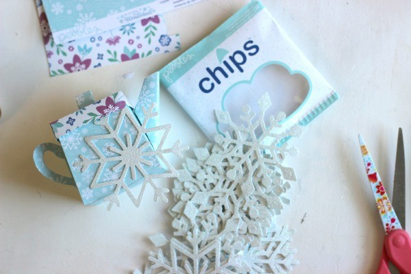 Glitter Snowflake Chips from @pebblesinc Winter Wonderland collection