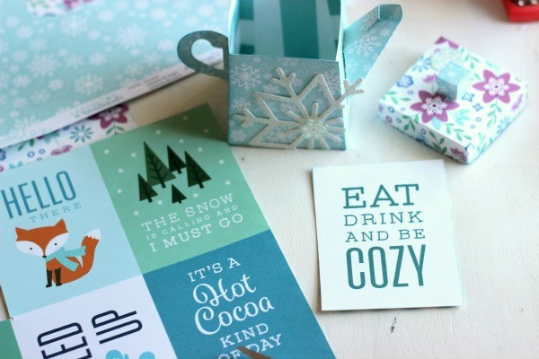 Winter Journaling Cards from @pebblesinc Winter Wonderland collection.