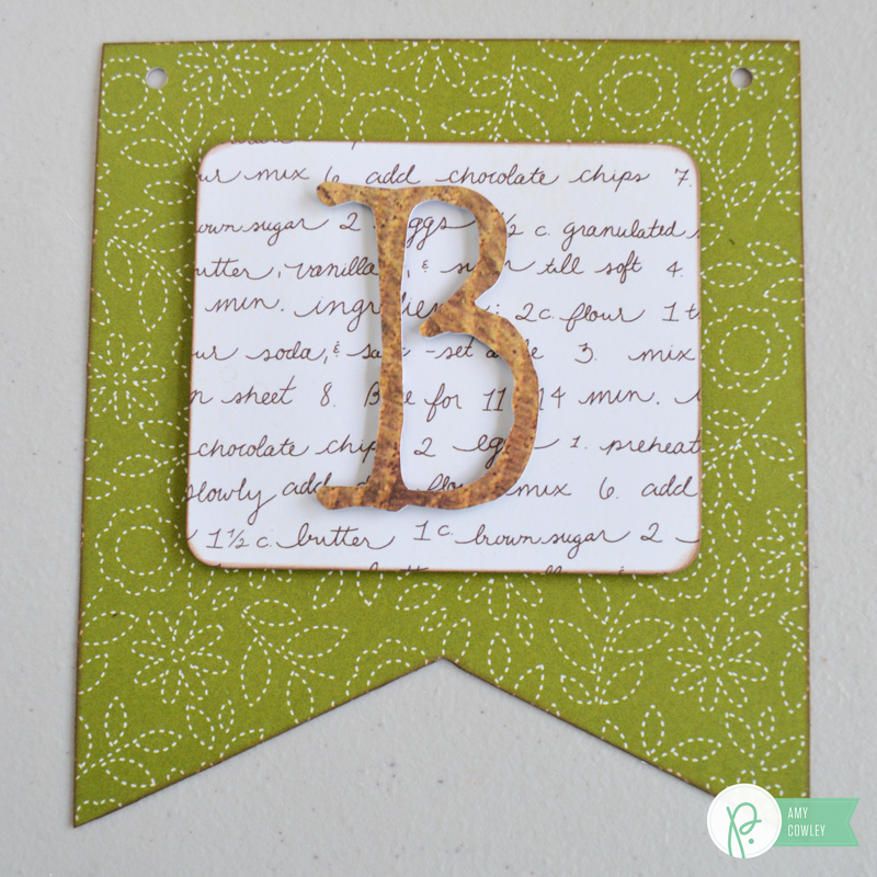 Use the #Harvest collection to create this beautiful BLESSED Banner with the tutorial from @thehappyscraps on the @pebblesinc blog.