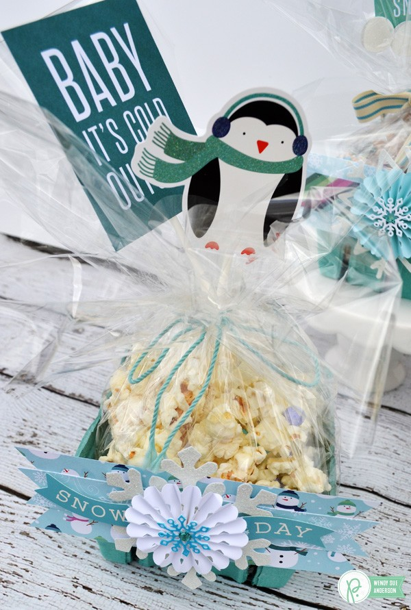 """A quick handmade gift idea by @wendysuea with the """"Winter Winderland"""" collection by @pebblesinc!"""