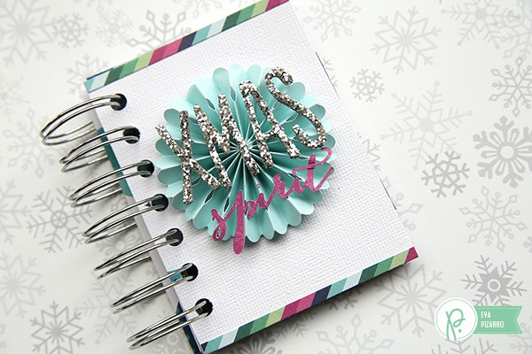 Washi Paper mini album by @evapizarrov using the new #WinterWonderland collection by @pebblesinc