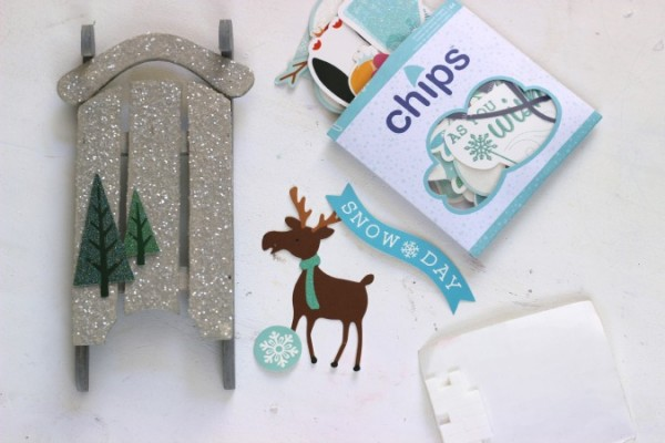 Winter Wonderland die cut shapes from @pebblesinc