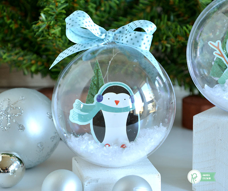 Snow Globe Ornaments by @amanda_coleman1 using @pebblesinc Winter Wonderland collection