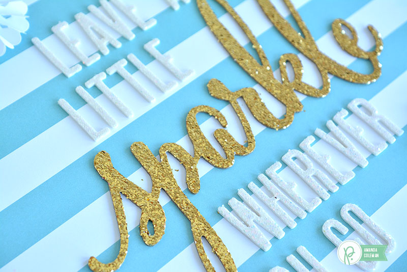 10 Minute Sparkle Wall Hanging by @amanda_coleman1 using @pebblesinc Winter Wonderland and DIY Home collections