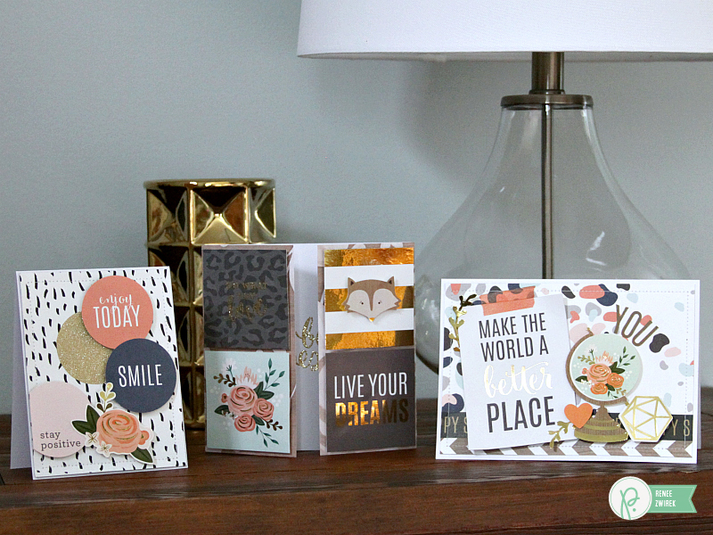 Uplifting Words cards by @reneezwirek using the #JHDIYHome collection by @PebblesInc. and @Tatertots and Jello .com