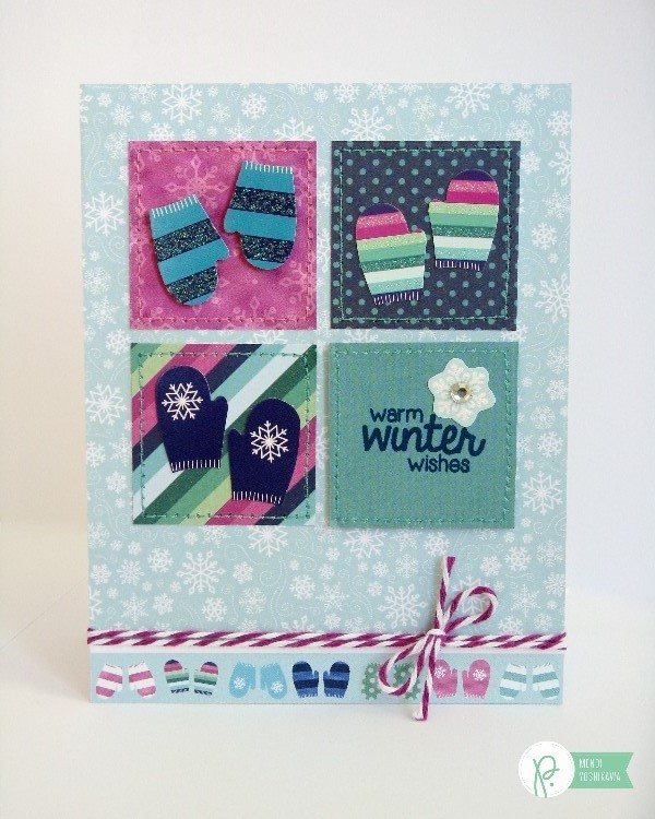 Winter Wonderland Mittens Card-Mendi